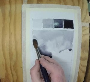 Iain Stewart's video (shown below) shows how to build intense values in watercolor paintings through the use of layers