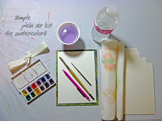 Simple Plein Air Watercolor Kit